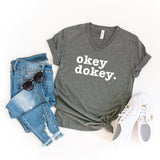 Okey Dokey | V-Neck Graphic Tee