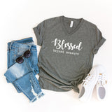 Blessed Beyond Measure | V-Neck Graphic Tee