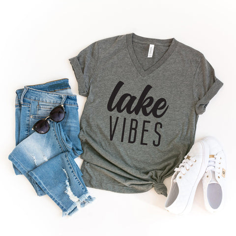Lake Vibes | V-Neck Graphic Tee