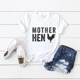 Mother Hen | V-Neck Graphic Tee