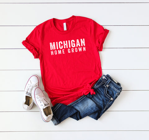 Michigan Home Grown | Short Sleeve Graphic Tee