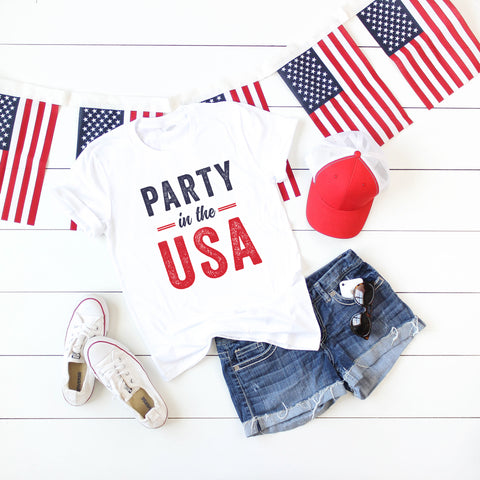 Party in the USA Short Sleeve Graphic Tee