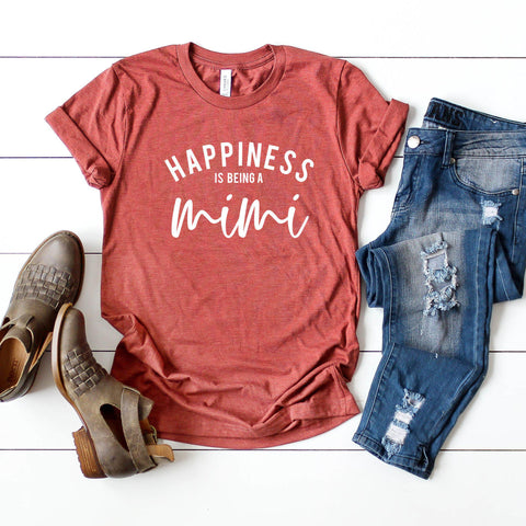 Happiness is Being a Mimi Short Sleeve Graphic Tee
