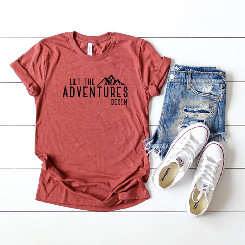 Let the Adventures Begin | Short Sleeve Graphic Tee