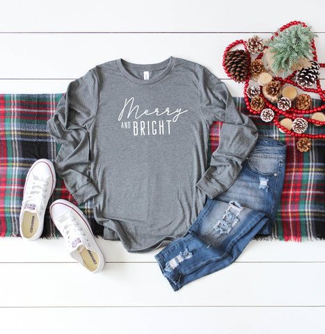 Merry and Bright | Long Sleeve Crew Neck