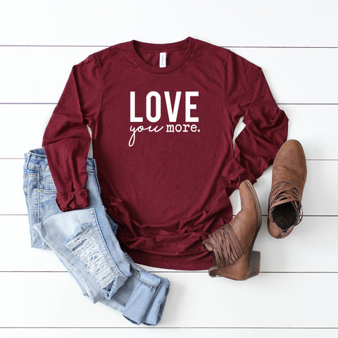 Love you More Long Sleeve Graphic Tee
