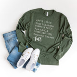 Fall Words | Long Sleeve Graphic Tee