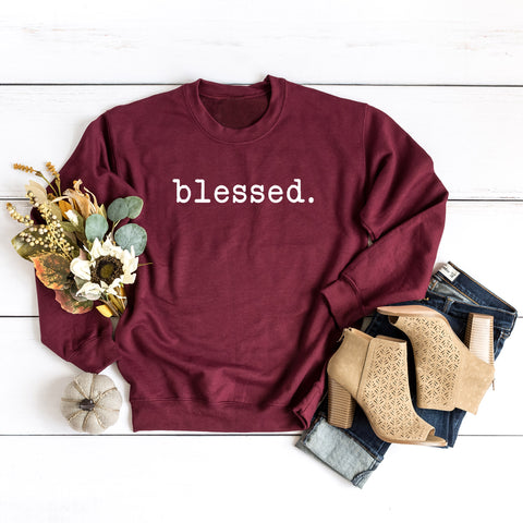 Blessed - Typewriter | Sweatshirt