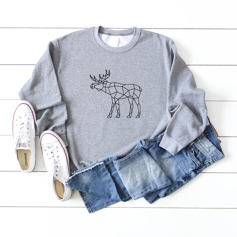 Geometric Moose | Sweatshirt