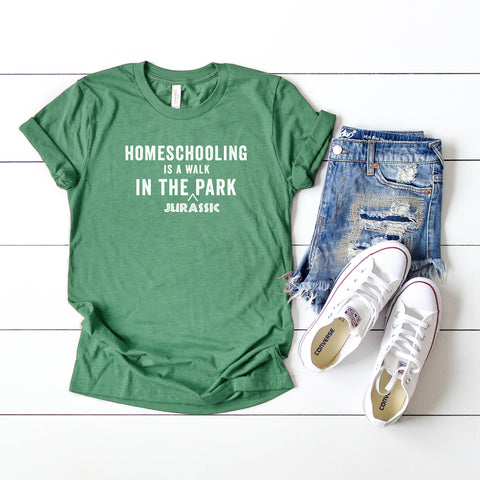 Homeschooling is a Walk in the Jurassic Park | Short Sleeve Tee