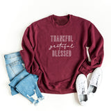 Thankful Grateful Blessed | Sweatshirt