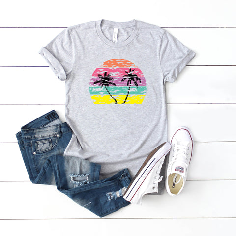 Tropical Sunset - Multi Color | Short Sleeve Graphic Tee
