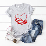 Retro Be Mine | V-Neck Graphic Tee