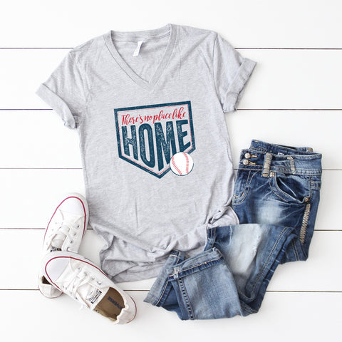 There's No Place Like Home | V-Neck Graphic Tee