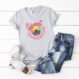 Sweet Summer Time | V-Neck Graphic Tee