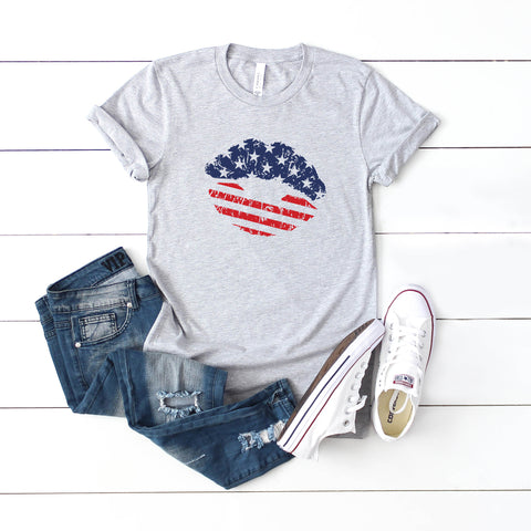 Flag Lips - Kids | Short Sleeve Graphic Tee