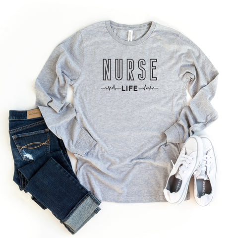 Nurse Life | Long Sleeve Graphic Tee