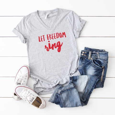 Let Freedom Ring | V-Neck Graphic Tee