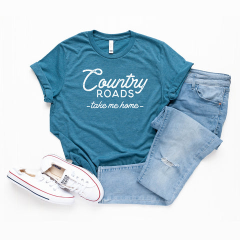 Country Roads Take Me Home | Short Sleeve Graphic Tee