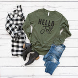 Hello Fall | Long Sleeve Graphic Tee