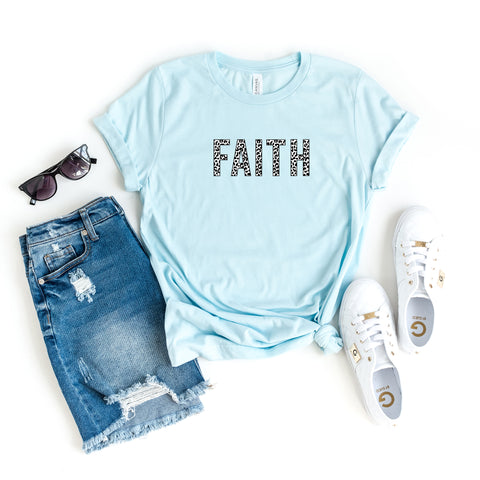 Faith - Leopard | Short Sleeve Graphic Tee