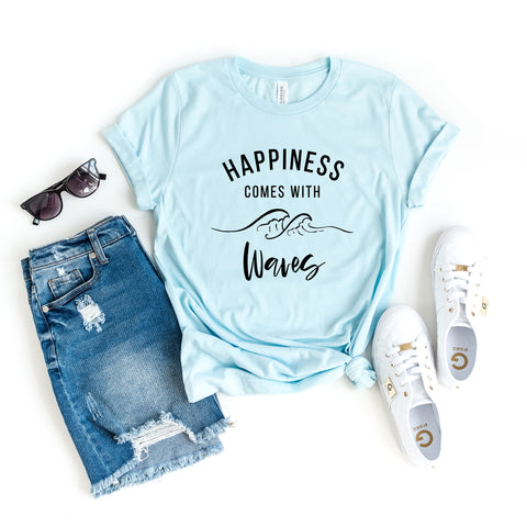Happiness Comes With Waves | Short Sleeve Tee