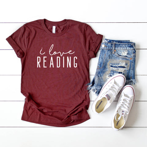 I Love Reading | Short Sleeve Graphic Tee