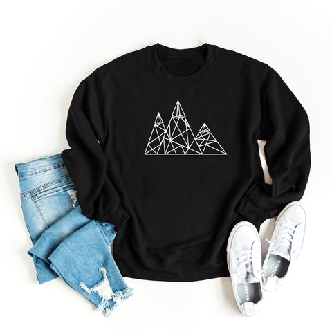 Geometric Mountains | Sweatshirt