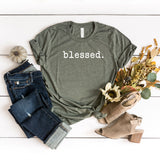 Blessed - Typewriter | Short Sleeve Graphic Tee