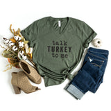 Talk Turkey To Me | V-Neck Graphic Tee