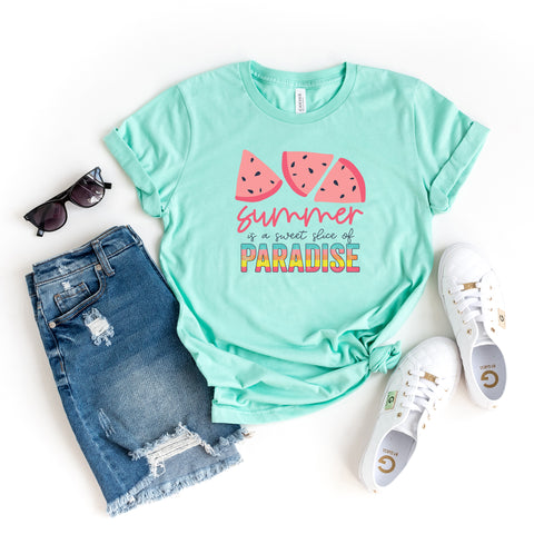 Summer is a Sweet Slice of Paradise | Short Sleeve Graphic Tee