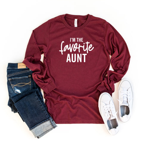 I'm The Favorite Aunt | Long Sleeve Graphic Tee