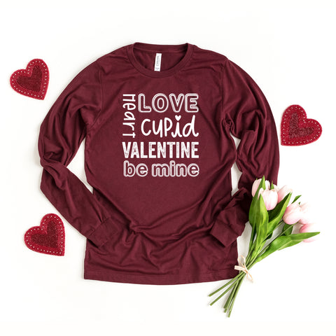 Valentine's Words | Long Sleeve Graphic Tee