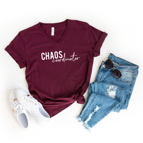 Chaos Coordinator | V-Neck Graphic Tee