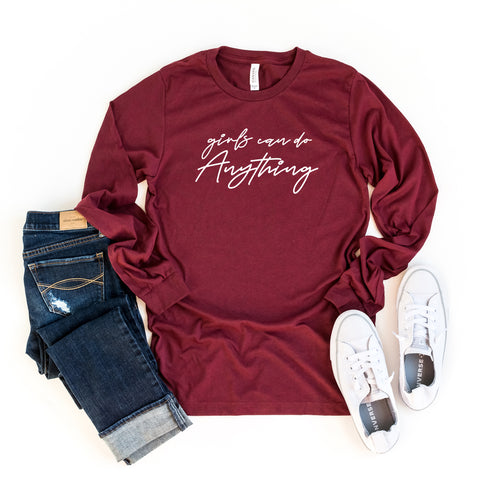Girls Can Do Anything | Long Sleeve Graphic Tee