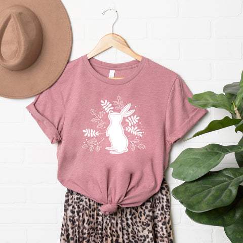 Floral Bunny | Short Sleeve Graphic Tee