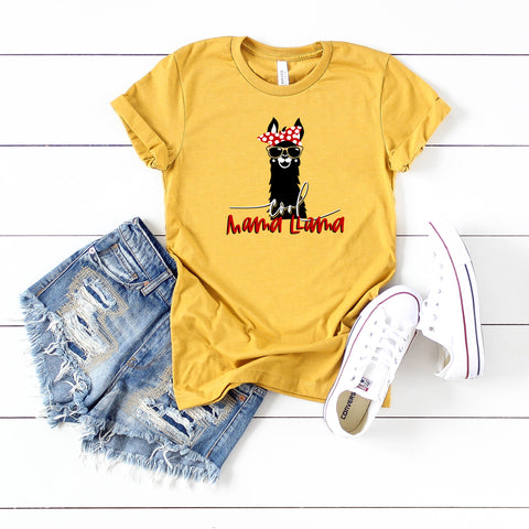 Cool Mama Llama | Short Sleeve Graphic Tee