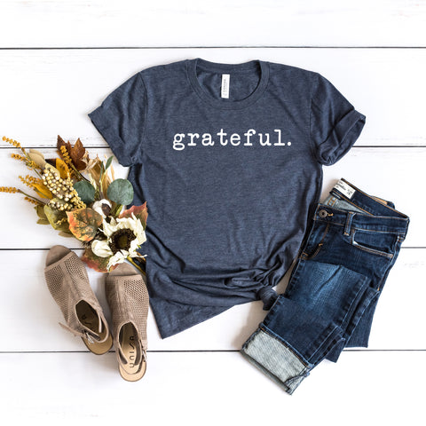 Grateful - Typewriter | Short Sleeve Graphic Tee