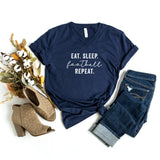 Eat. Sleep. Football. Repeat | V-Neck Graphic Tee