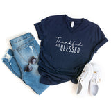 Thankful and Blessed | V-Neck Graphic Tee