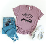 Happiness is Being an Auntie | Short Sleeve Graphic Tee
