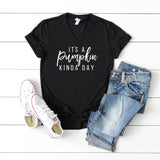 It's a Pumpkin Kinda Day | V-Neck Graphic Tee