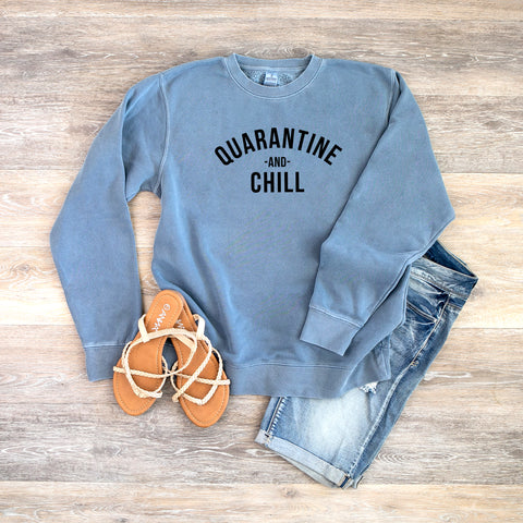 Quarantine and Chill | Colorful Sweatshirt