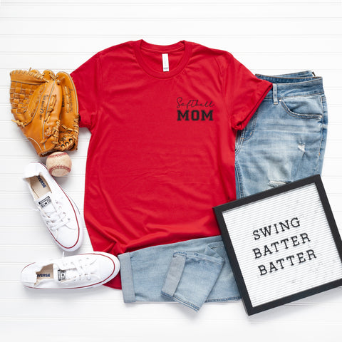 Softball Mom - Mini | Short Sleeve Graphic Tee