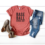 Baseball Kinda Day Short Sleeve Graphic Tee