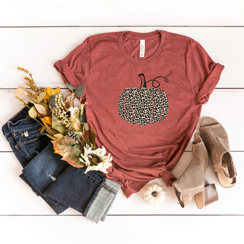 Leopard Pumpkin | Short Sleeve Graphic Tee