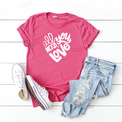 All You Need is Love | Short Sleeve Graphic Tee