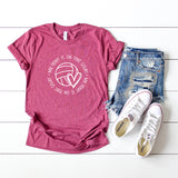 My Heart is on that Court - Volleyball | Short Sleeve Graphic Tee