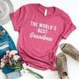World's Best Grandma Short Sleeve Graphic Tee