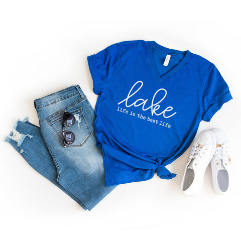Lake Like is the Best Life | V-Neck Graphic Tee